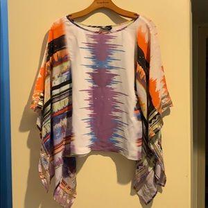 Bebe flowing sleeve hippie top